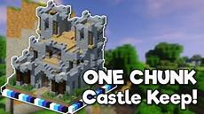 Castle Keep Design Minecraft Castle Keep In One Chunk Tutorial Youtube