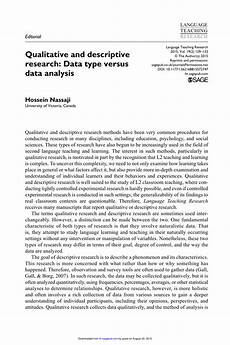 An Example Of A Research Design Pdf Qualitative And Descriptive Research Data Type