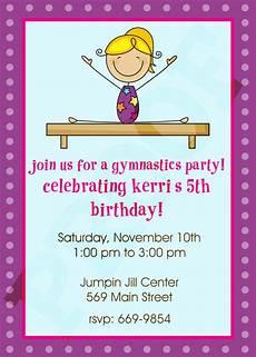 Free Birthday Invitation Printables Free Printable Gymnastic Birthday Invitations Updated
