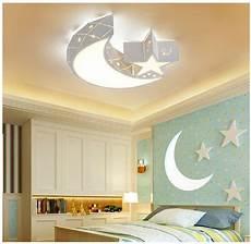 Baby Girl Room Light Fixtures Creative Star Moon Led Ceiling Light Acrylic Fixture Kid