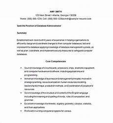 Database Management Resume Database Management Resume