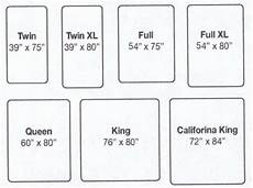mattress sizes chart real real friends real deal