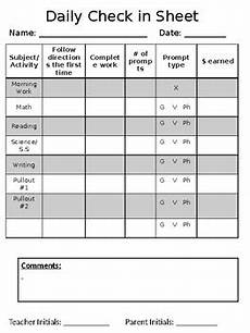 Check In Check Out Chart Daily Behavior Check In Sheet By Maggie Clune Tpt