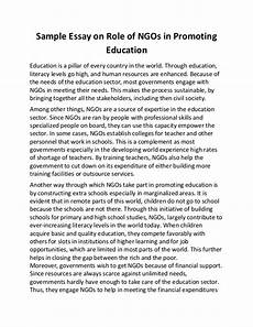 English Essay Importance Of Education Sample Essay On Role Of Ng Os In Promoting Education