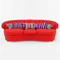 Sofa Cushions 3d Image by Custom Made Sofa In Textile With A Cushions 3d Model