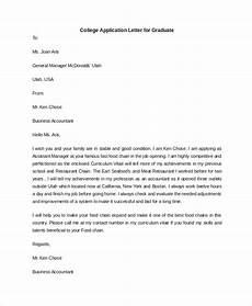 College Application Cover Letter Sample Free 9 Sample College Application Letter Templates In Pdf