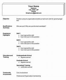 Easy Resume Format Download Simple Resume Template 47 Free Samples Examples