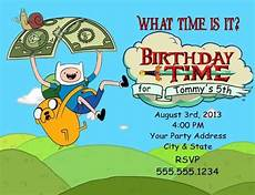 Adventure Time Party Invitations Personalized Adventure Time Finn And Jake Birthday Party