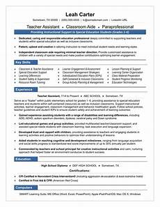 special education teacher assistant resume teacher assistant resume sample monster com