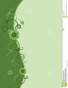 Green Border Design Green Floral Border Design Stock Vector Illustration Of