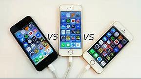 iPhone 5 vs iPhone 5S vs iPhone SE (Speed Test)