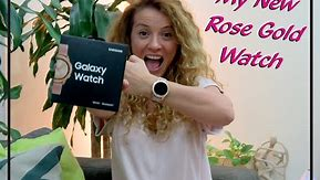 Samsung Galaxy Watch Rose Gold Unboxing Review
