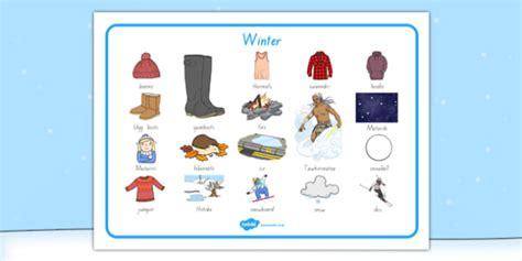 Winter Word Mat by New Zealand Winter Word Mat