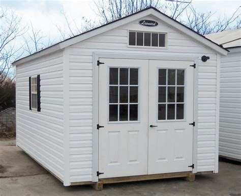 White Storage Shed Vinyl Storage Sheds Leonard Buildings Truck Accessories