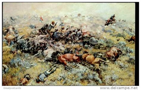 where custers last stand custer s last painting of custer s last stand by j k ralston