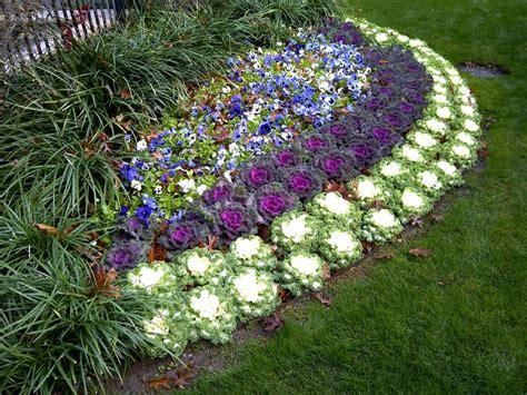 winter flower gardens landscape flower beds and border edging installing