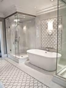 Arabesque tile shower contemporary bathroom artistic