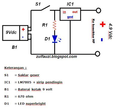 Batre Senter Cas zholleck 26 buat sendiri charger usb portable 9 volt