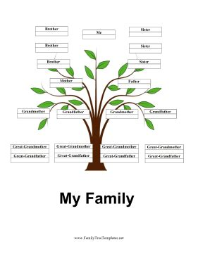 single parent family tree template 4 generation family tree with siblings template