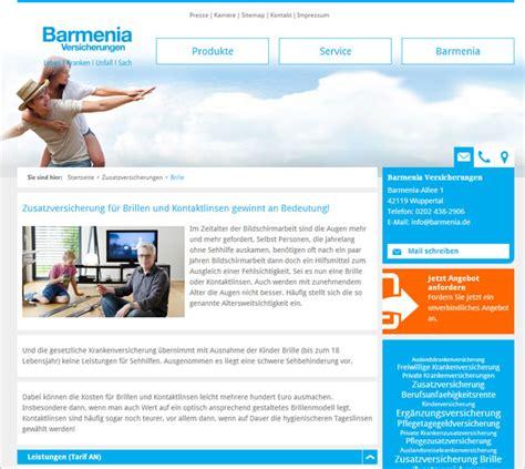 Kfz Versicherung Vergleich Barmenia by Barmenia Brillenversicherung
