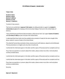 Cover Letter For Affidavit Of Support by Simple Affidavit Sle Marriage Affidavit Letter Sle