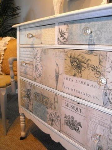Decoupage Furniture With Wallpaper - decoupage la forma de decorar saber dibujar la