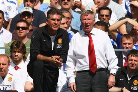 Sir Alex Ferguson and assistant Carlos Queiroz   ABC News