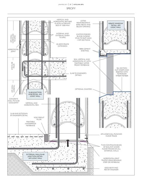 design application of raft foundation by j a hemsley infolink building products news january 2017 by