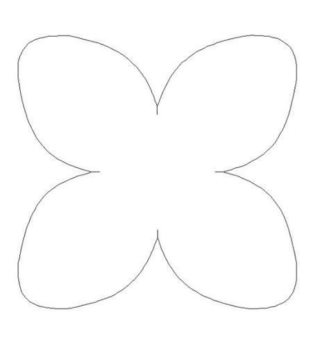 moldes flores com 4 petalas pesquisa google papeis e