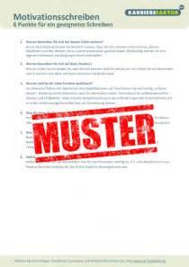 Motivationsschreiben Statt Bewerbung Checkliste Motivationsschreiben Karrierefaktor