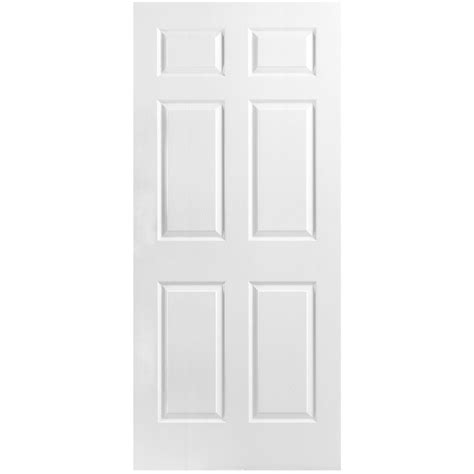 34 Interior Door Masonite 34 Inch X 80 Inch Primed 6 Panel Textured Interior Door Slab The Home Depot Canada