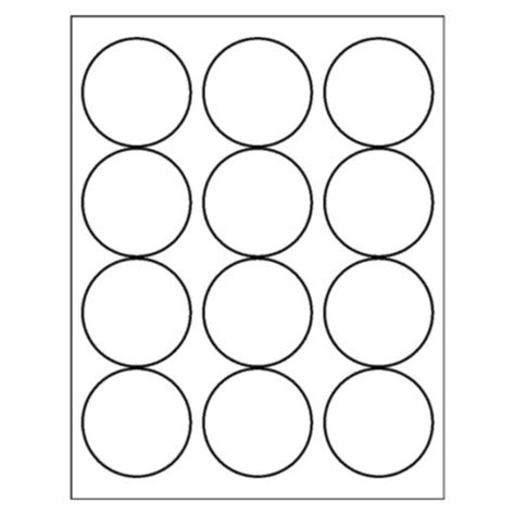 template for circle labels avery label templates