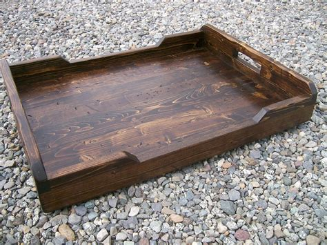 rustic ottoman tray large rustic serving tray ottoman tray