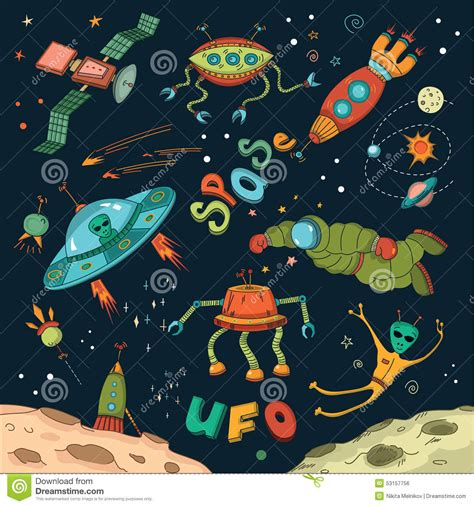 space design outer space design elements stock vector image 53157756