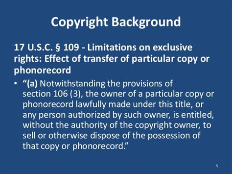 section 106 copyright act yar chaikovsky and keith slenkovich discuss patent exhaustion
