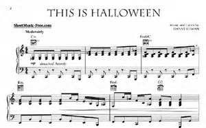 this is halloween sheet music this is halloween sheet music danny elfman sheet music free