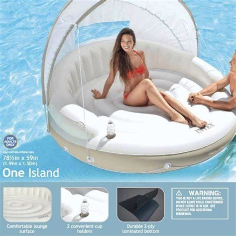 Intex Canopy Island 58292 floating lounge island canopy shade water float