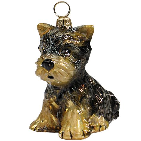 joy to the world quot yorkshire terrier quot holiday ornament