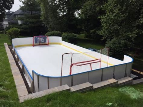synthetic basement and backyard rink kits hockey