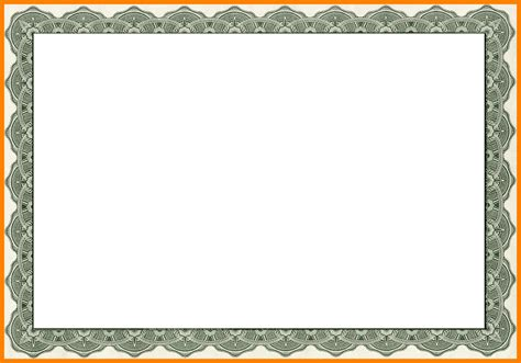 free printable certificate border templates 6 free printable certificate border templates sle of
