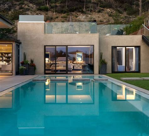 eye catching cool modern house with swimming pool closed modern house with infinity pool near lake starnberg