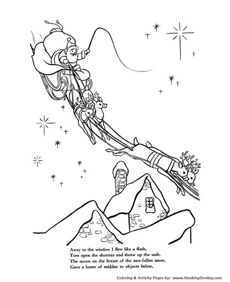 coloring pages for twas the night before thanksgiving night before christmas coloring pages christmas story