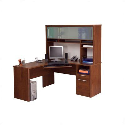 Cheap Corner Desk With Hutch Great Price Bestar For Bestar Monaco Home Office L Shape Corner Wood Computer Desk Set With
