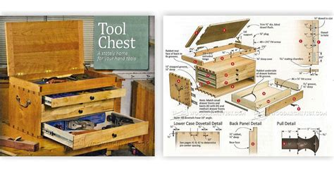 dovetailed tool chest plans woodarchivist