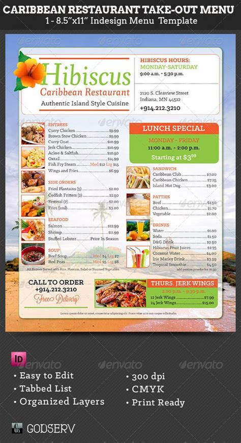 takeout menu template the world s catalogue of ideas