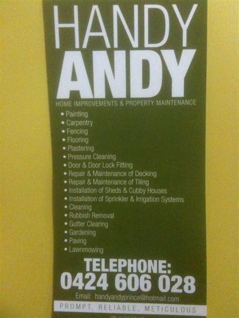 handy andy home improvements property maintenance in