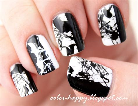 black and white pattern nails black and white nails nails10