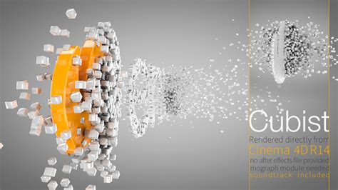 cinema 4d animation templates cubist c4d logo animation by flashato videohive