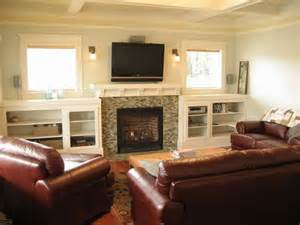 tv fireplace sconces builtins place entertainment