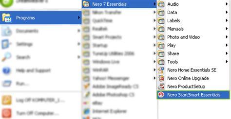 File Nero 7 Essentials Ori Asli Baru tutorial artikel tik 187 cara membakar file kedalam cd dvd